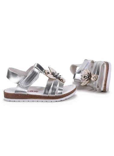 Kiko Kids  Şb 2316 Orto Pedik Kız Çocuk Sandalet Terlik Gümüş